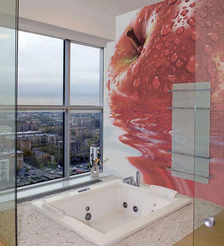 Стеклофотомозаика в ванной фото 9 фотография